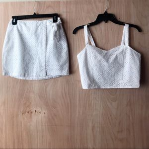 NEW SET OF COP TOP AND SKIRT BY EXPRESS
